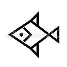 魚のシルエットイラスト