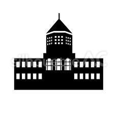 城のシルエットイラスト