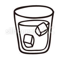 飲み物のシルエットイラスト