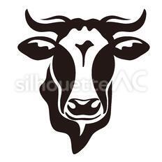 牛のシルエットイラスト