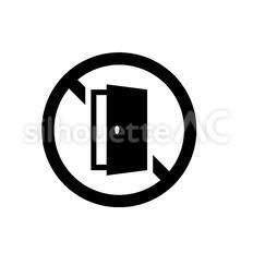 出入り禁止|シルエット イラストの無料ダウンロードサイト ...