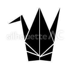 折り紙のシルエットイラスト