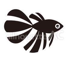 金魚のシルエットイラスト