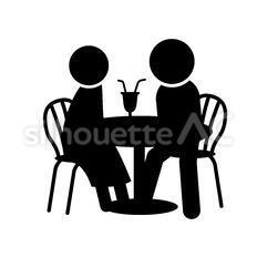 カフェの2人