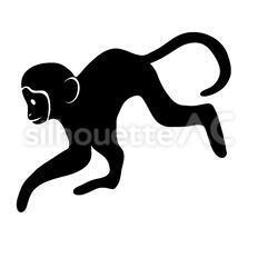 猿のシルエットイラスト