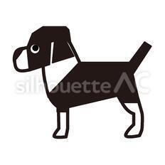 犬のシルエットイラスト