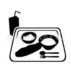 給食のシルエットイラスト