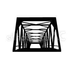 橋のシルエットイラスト