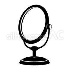 鏡のシルエットイラスト