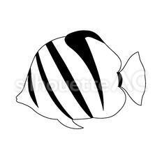 熱帯魚のシルエットイラスト