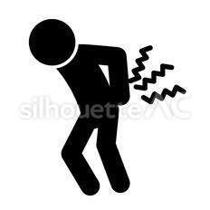 腰痛のシルエットイラスト
