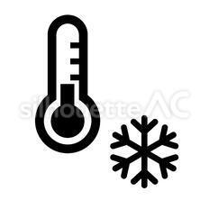 雪と温度計