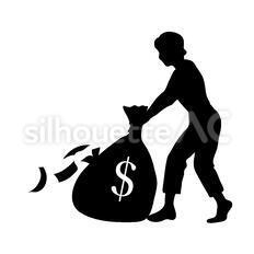 現金袋を運ぶ人