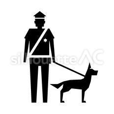 警察のシルエットイラスト