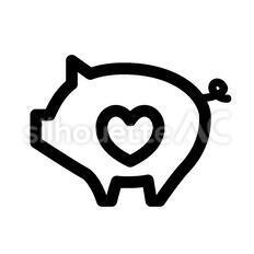 ハートの豚