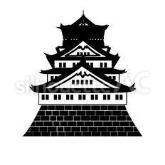 大阪城のシルエットイラスト
