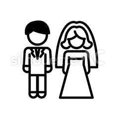 結婚式のシルエットイラスト