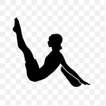 A woman who raises his leg