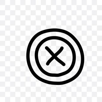 Cross stitch button