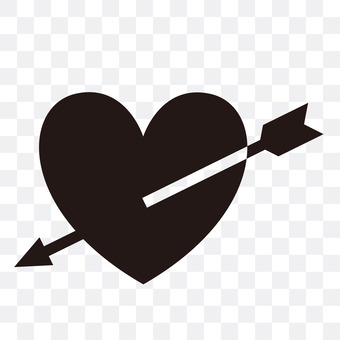 Hearts and bow arrows