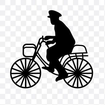 警察骑自行车