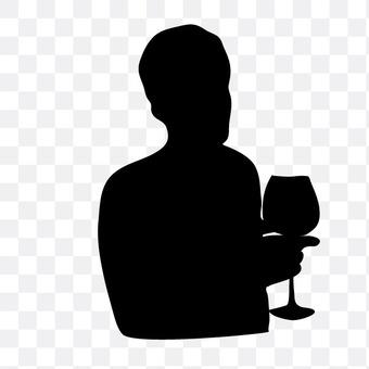 A man toasting