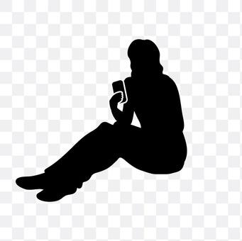 女人看到智能手机坐
