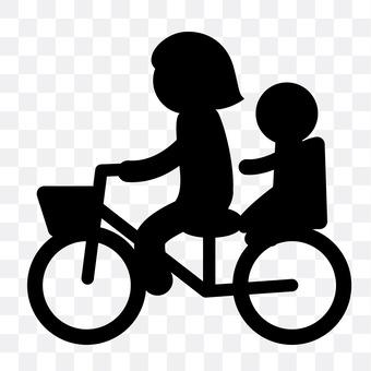 自行车在父母子女