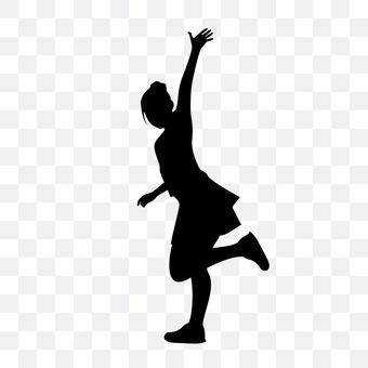 女人挥舞着