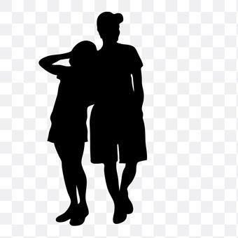 Cuddling couple 8