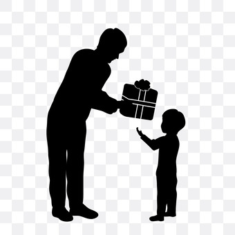Child gets a present