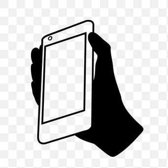右手与智能手机