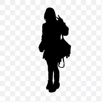 Woman high student