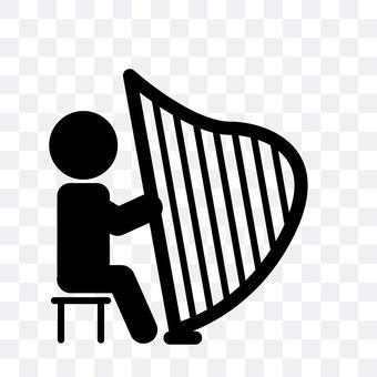 A harp player