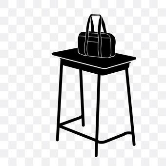 School bag and desk