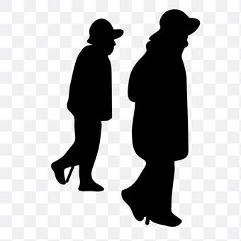 The old man walking