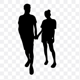 A couple holding hands 9