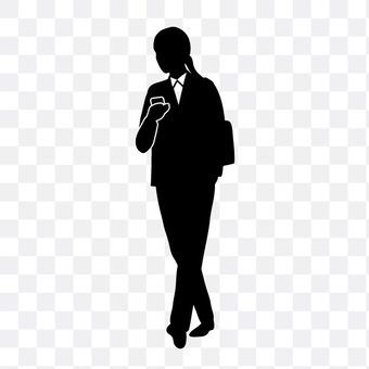 女人操纵智能手机