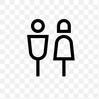 Toilet mark