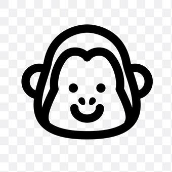 Monkey (serious face)