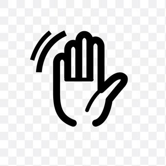 wave hands