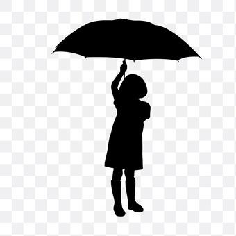 Rainy day child
