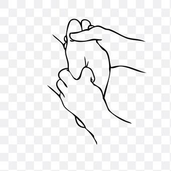 Massage (soles of feet)