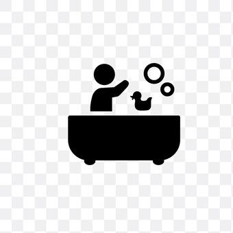 Child to take a bath