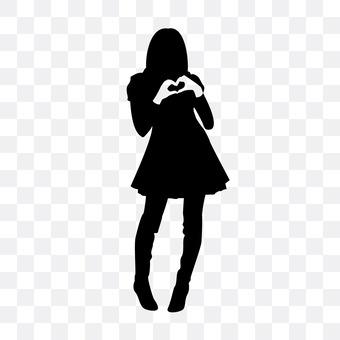 妇女谁使心脏标志