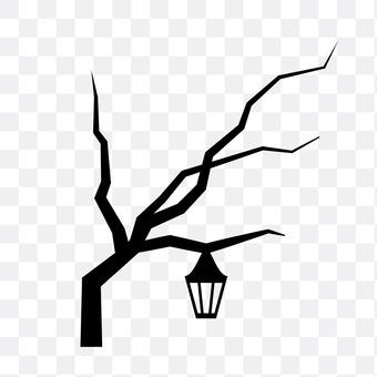 Lamp on a tree