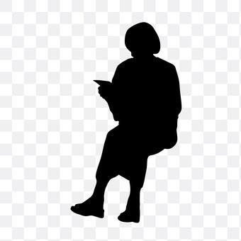 Sitting reading