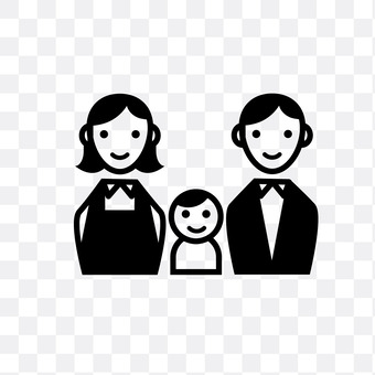 3 people family