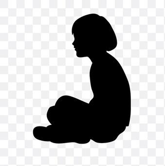 Sitting person child