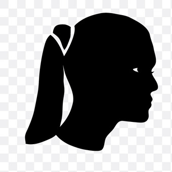 A woman in a ponytail